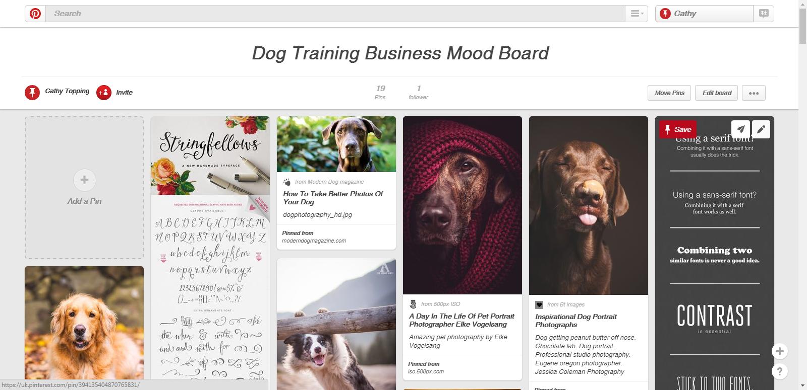 Example Pinterest Mood Board