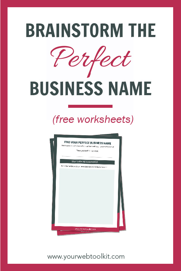 Stop struggling to find the perfect name for your new business or blog. Use these techniques and download the free printable worksheets to get your creative juices working as you brainstorm.