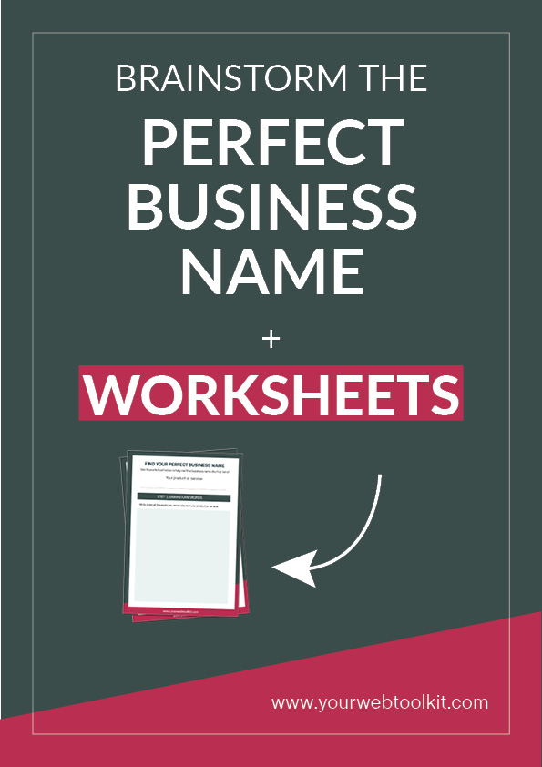 Are you struggling to find the perfect name for your new business or blog? In this blog I share with you some great techniques on how to brainstorm the perfect business name. Free worksheets to download