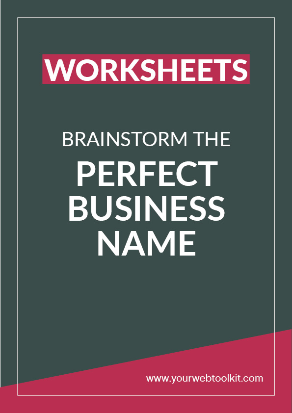 Free printable worksheets to help you brainstorm the perfect name for your new business or blog.