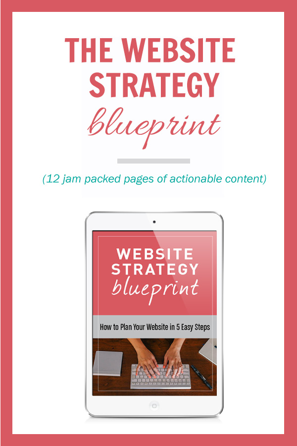 Website Strategy Blueprint Cover