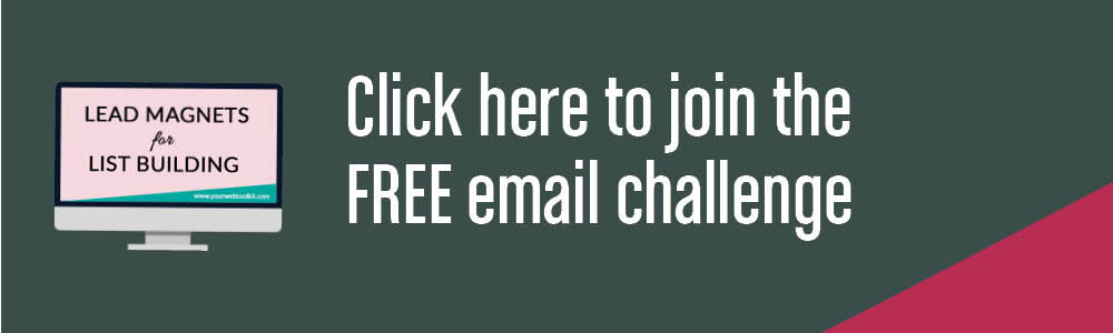 Grow your email list with my free email challenge