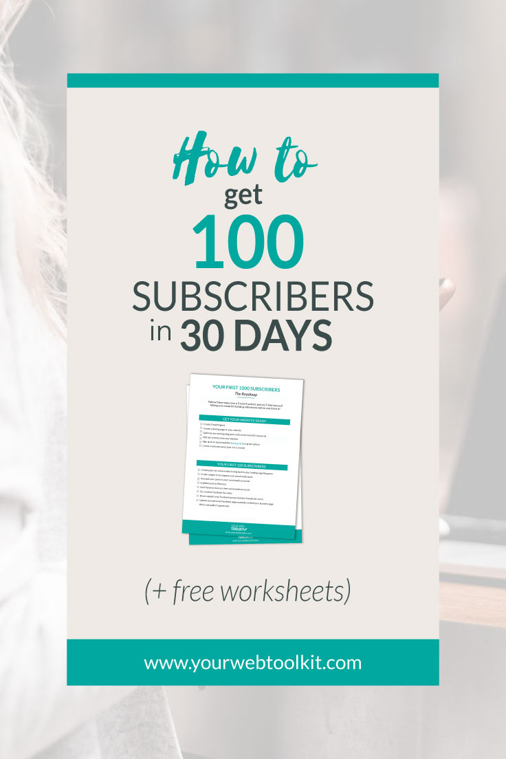 Get Your First 100 Subscribers in 30 days. Includes free roadmap checklist