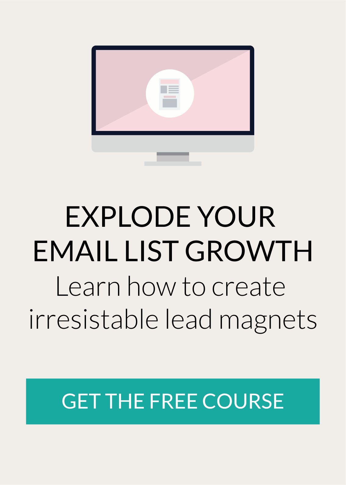 Create irresistible lead magnets free email course