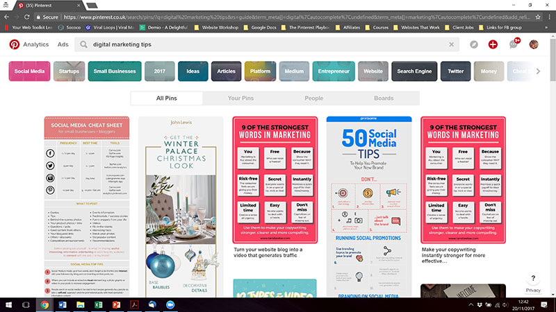 Pinterest-Search-Bar-suggested-pins | Your Web Toolkit