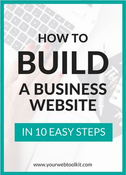 how to start a business website steps