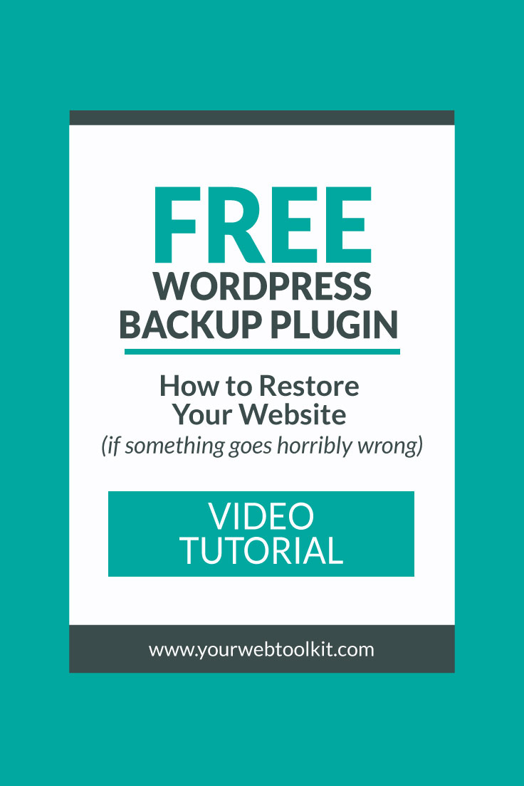 Image with text overlay: Free WordPress Backup Plugin